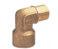 Brass Elbow 1/2M 1/4F